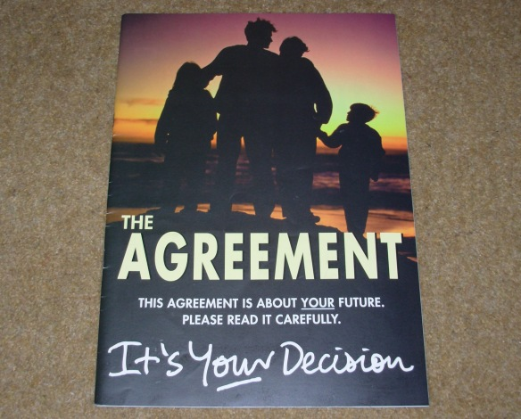 The 1998 Good Friday Agreement - rejected by Ian Paisley